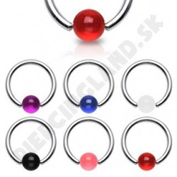 Piercing - Krúžok s UV guličkami