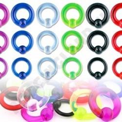 Piercing - Akrylový UV krúžok