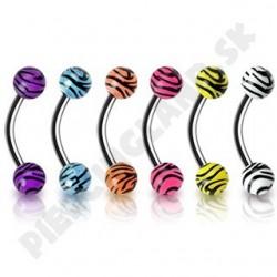 Piercing do obočia - Akrylové UV guličky